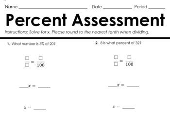 Percent Assessment Pack (Keys Included)