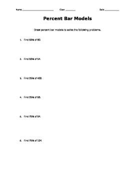 Percent Bar Model Practice