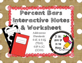Percent Bars Interactive Notes & Worksheet