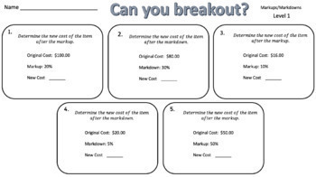 Percent Breakout Bundle – Perfect for Google Classroom!