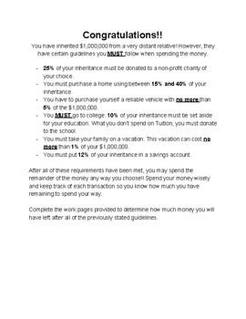 Percent/Budget Math Project