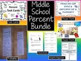 Percent Bundle:  Power Points, Task Cards, Foldables, Worksheets
