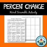 Percent Change Activity - Word Scramble