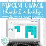 Percent Change DIGITAL Puzzle Activity for Google Drive Distance Learning