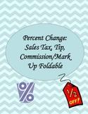 Percent Change Foldable