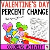 Valentine's Math Activity Percent Change Increase & Decrease