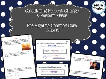 Percent Change & Percent Error