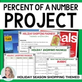 Percent of a Number Math Project - Holiday Shopping Madness