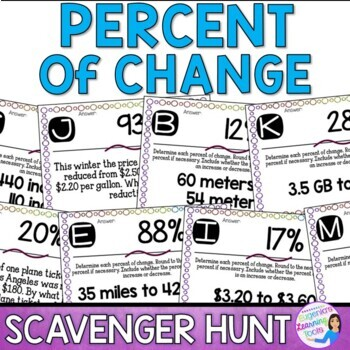 Percent Change Scavenger Hunt