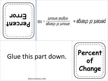 Percent Change Scavenger Hunt and Percent Change/Percent Error Foldable Bundle
