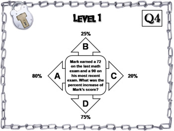Percent Change Word Problems Game: Escape Room Math Activity