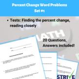 Percent Change Word Problems - Set 1
