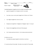 Percent Change practice worksheet