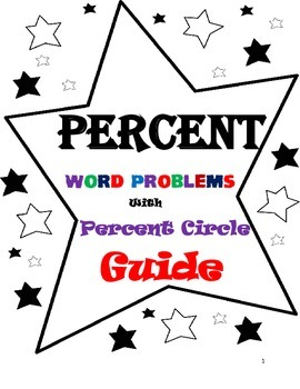 Percent Circle Guide with Word Problems