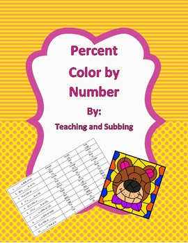Percent Color by Number