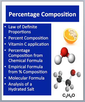 Percent Composition and Hydrates - A Chemistry PowerPoint Lesson