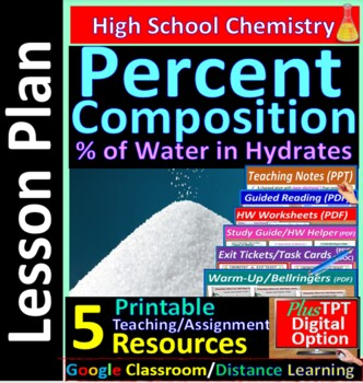 Percent Composition Calculations -  Guided Study Notes for HS Chemistry