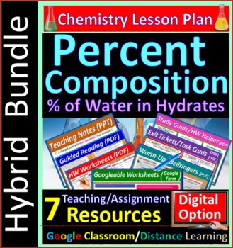 Percent Composition Calculations -  Worksheets & Practice Questions HS Chem