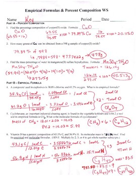 Percent Composition, Empirical Formula, & Molecular Formula ...