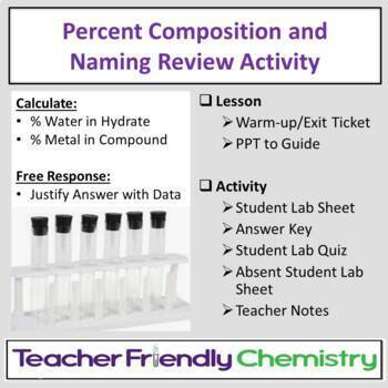 Percent Composition Lesson and Activity