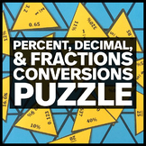 Percent, Decimal, & Fraction Conversions Triangle Puzzle