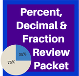 Percent, Decimal, Fraction Review Packet