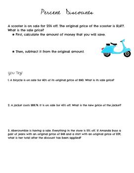 Percent Discounts Introduction