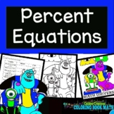 Percent Equation Coloring Book Math