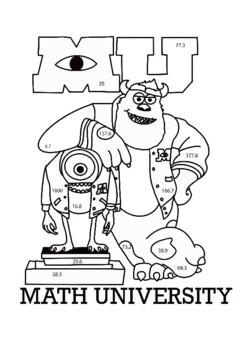 Percent Equation Coloring Book Math