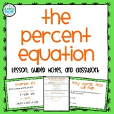 Percent Equation Pack: 7.RP.3