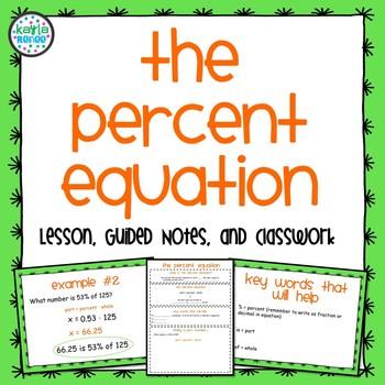 Percent Equation Pack