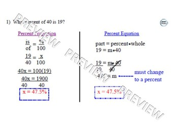 Percent Equation & Percent Proportion