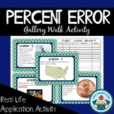 Calculating Percent Error - Gallery Walk Activity