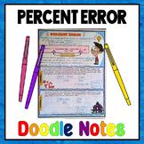 Percent Error Doodle Notes
