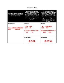 Percent Error Exit Ticket
