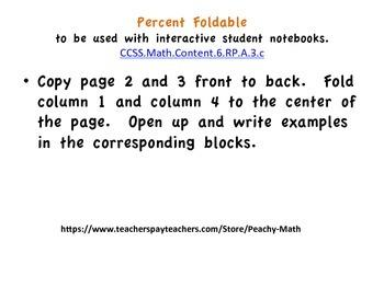 Percent Foldable