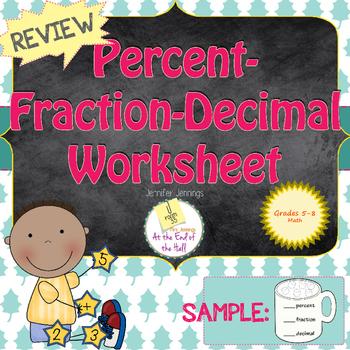 Percent-Fraction-Decimal Review Worksheet