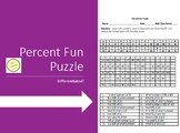 Percent Fun Puzzle Worksheet with Differentiated Version