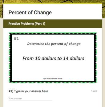 Percent Google Form Bundle – Perfect for Google Classroom!