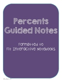 Percent Guided Notes
