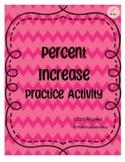 Percent Increase Application Worksheet/Activity