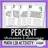 Percent Increase and Decrease (Discount, Mark-Up, and Tax) Math Lib