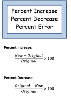Percent Increase / Decrease / Error Notes- Trifold Brochure