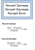 Percent Increase / Decrease / Error Notes- Trifold Brochure