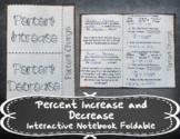 Percent Increase and Decrease INB TEKS 7.4D