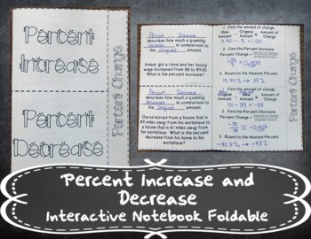 Percent Increase and Decrease INB TEKS 7.4D