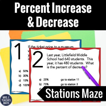 Percent Increase and Decrease Stations Maze Activity