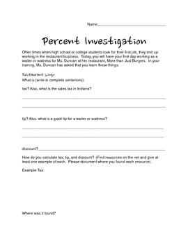 Percent Investigation