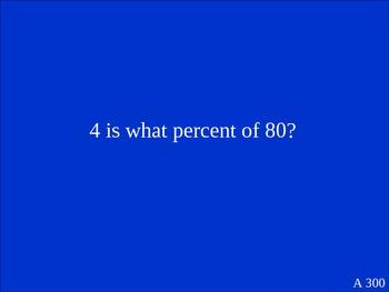 Percent Jeopardy