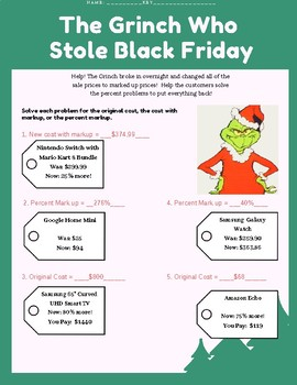 Percent Markup Grinch Stole Black Friday